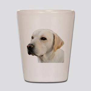 Yellow Lab Head Shot Glass