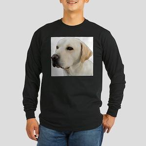 Yellow Lab Head Long Sleeve Dark T-Shirt