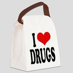 ilovedrugsblk Canvas Lunch Bag