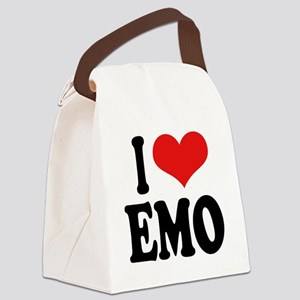 iloveemoblk Canvas Lunch Bag
