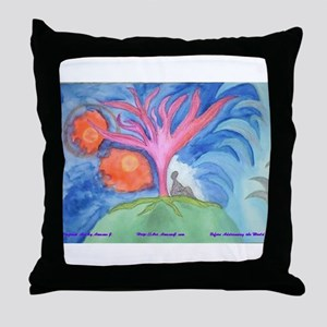 Before Addressing the World Throw Pillow
