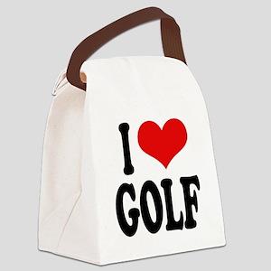 ilovegolfblk Canvas Lunch Bag