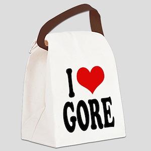 ilovegoreblk Canvas Lunch Bag