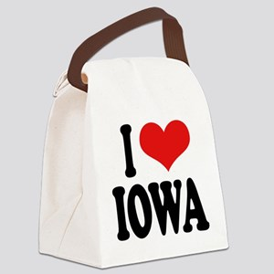 iloveiowablk Canvas Lunch Bag