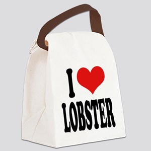 ilovelobsterblk Canvas Lunch Bag