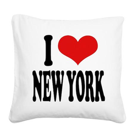 ilnewyorkblk.png Square Canvas Pillow