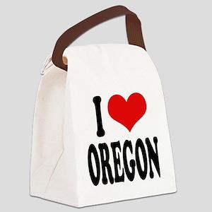 iloveoregonblk Canvas Lunch Bag