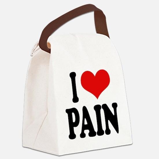ilovepainblk.png Canvas Lunch Bag
