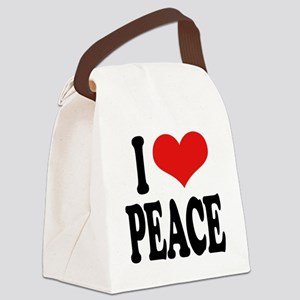 ilovepeaceblk Canvas Lunch Bag