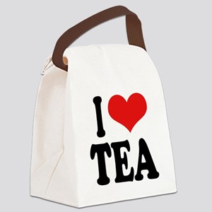 iloveteablk Canvas Lunch Bag