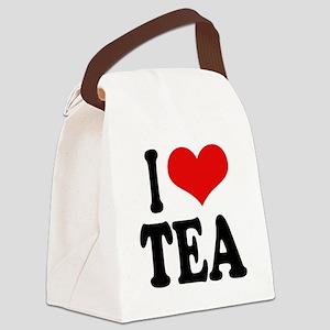 iloveteablk Canvas Lunch Bag
