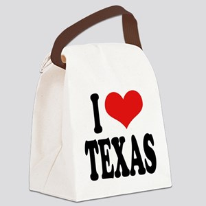 ilovetexasblk Canvas Lunch Bag
