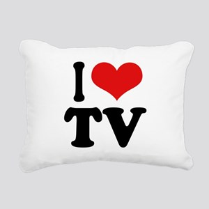 ilovetvblk Rectangular Canvas Pillow