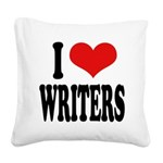 ilovewritersblk Square Canvas Pillow