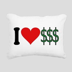 4-3-ilovemoneyblk Rectangular Canvas Pillow