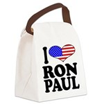 iloveronpaulblk.png Canvas Lunch Bag