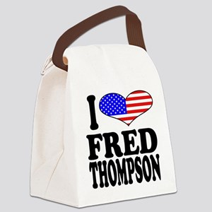 ilovefredthompsonblk Canvas Lunch Bag