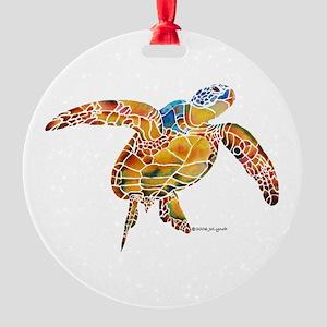 Sea Turtles Round Ornament