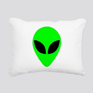 plainalienheadblk Rectangular Canvas Pillow
