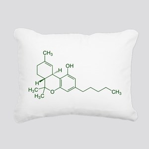 Tetrahydrocannabinol Rectangular Canvas Pillow