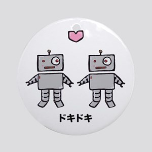 Robot Love - Doki Doki Ornament (Round)