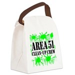area51cleanupcrewblk Canvas Lunch Bag