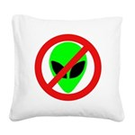 nomorealiensblkeyes Square Canvas Pillow
