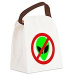 nomorealiensblkeyes Canvas Lunch Bag