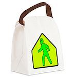 aliencrossingblk Canvas Lunch Bag