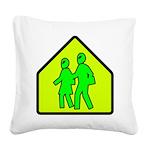 alienxingblk Square Canvas Pillow