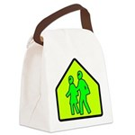 alienxingblk Canvas Lunch Bag