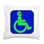 alienhandicappedblk Square Canvas Pillow