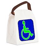 alienhandicappedblk Canvas Lunch Bag