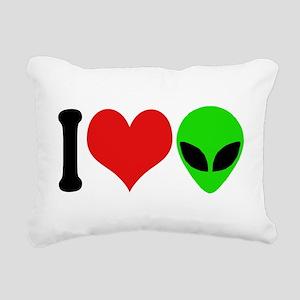 ilovealiensblk Rectangular Canvas Pillow