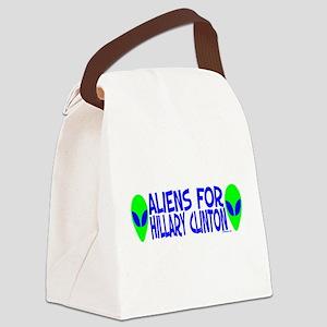 aliensforhillaryclinton Canvas Lunch Bag