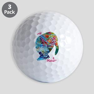 Manatees of Many Colors Golf Balls