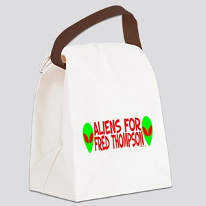 aliensforfredthompson Canvas Lunch Bag