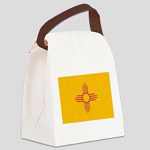 newmexicoflagplainbanner42x28 Canvas Lunch Bag
