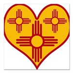nmziaheart Square Car Magnet 3