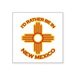 idratherbein-newmexico-outline Square Sticker