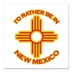 idratherbein-newmexico-outline Square Car Magn