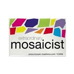 Extraordinary Mosaicist Rectangle Magnet