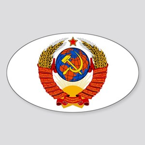 Soviet Union Coat of Arms Oval Sticker