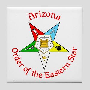 Arizona Eastern Star Tile Coaster