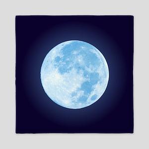 Blue Full Moon Queen Duvet