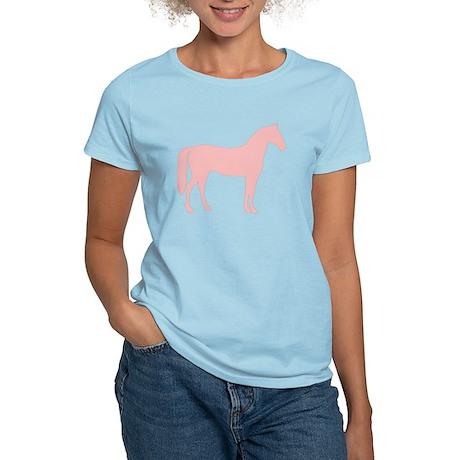Pink Horse Silhouette Women's Light T-Shirt
