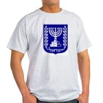 Israel Coat of Arms Ash Grey T-Shirt