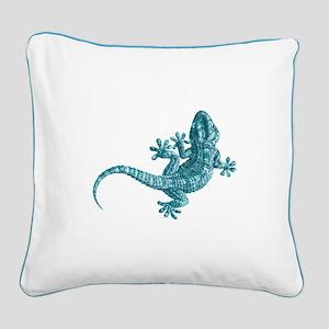 Gecko Square Canvas Pillow