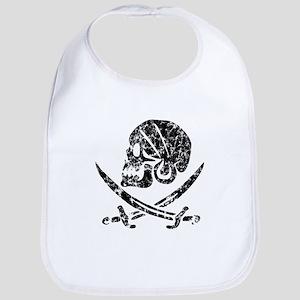 Pirate Skull & Swords (worn) Bib