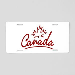 Canada Leaf Script Aluminum License Plate